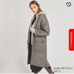 Women Tweed Knitted coat (Gray)